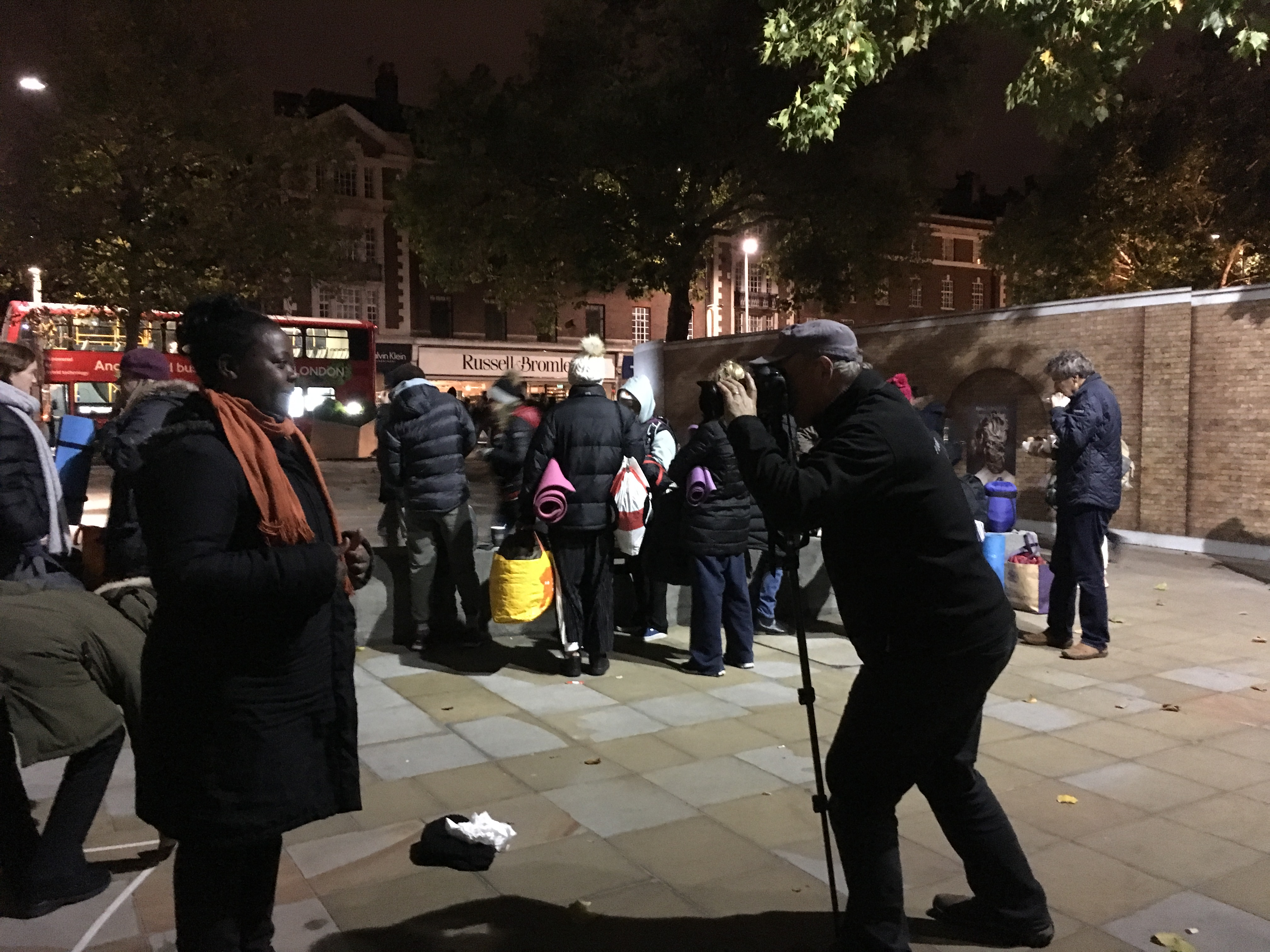 photographer Franc Vissers in action at 2017 Sleep Out