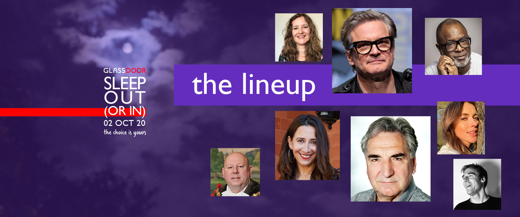 The Sleep Out (or in) 2020 Lineup