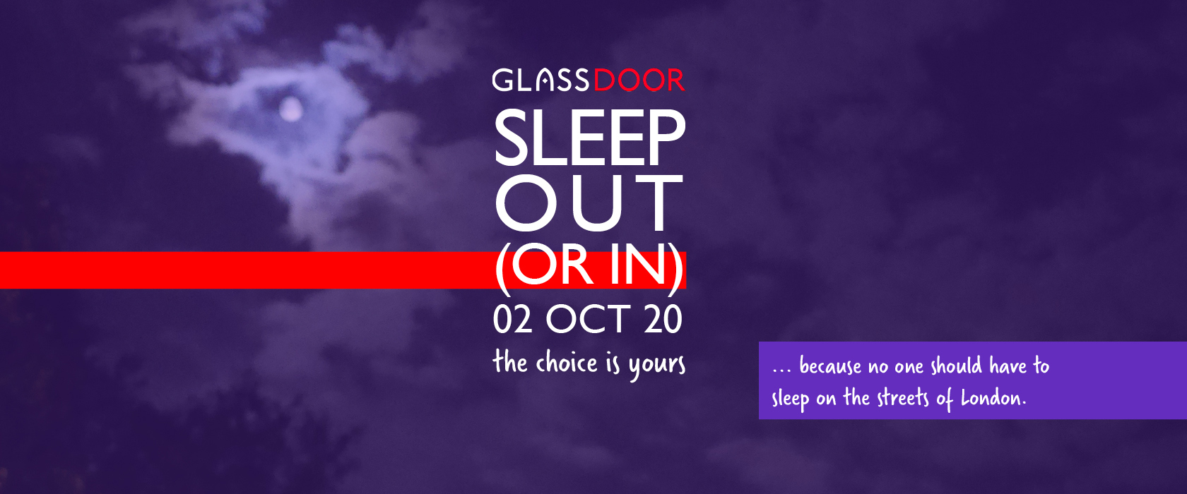 Jenny Welsh's Sleep Out (or in) fundraising page