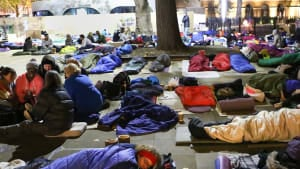 Hundreds sleep out to raise funds and awareness for homelessness